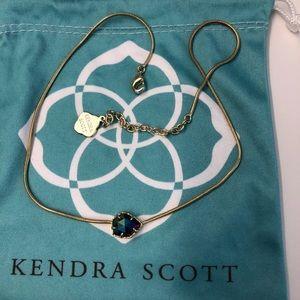 HTF Black iridescent Kendra Scott Mara in gold